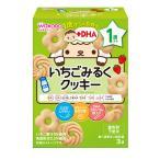 和光堂 1歳からのおやつ+DHA いちごみるくクッキー 16g×3袋