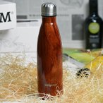 水筒 ステンレスマグボトル メルガレホ melgarejo 500ml おしゃれ 保冷保温 スリムデザイン 木目調 ペットボトル型 真空断熱 軽量 直飲み あすつく対応