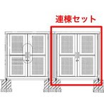 開き戸式床付 シコク ゴミストッカー PL型 LGSPL-A2025  受注生産・お客様組立・連棟ユニットの為単体でのご使用不可 送料無料