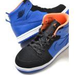 ショッピングAIR NIKE AIR JORDAN 1 RETRO HIGH BT ナイキ エアジョーダン レトロ ブラック×ブルー キッズ 子供靴 スニーカー