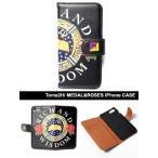 トミトエイチ Tome2H  PUSHIM iフォンケース iphone 6 6S SE 5 5S 7 PLUS スマホ 手帳 ダイアリー MEDAL&ROSES iPhone CASE -BLACK- -Lady's-
