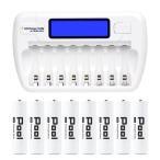充電池 充電器 セット / 単3 電池と 8