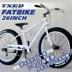 ビーチクルーザー ファットバイク  自転車 26インチ FATBIKE シマノ7段変速 ディスクブレーキ  クイックリリース