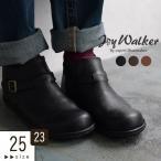 ショートブーツ 23〜25cm JOY WALKER Plus ジョイウォーカープラス ベルト サイドジップ ブーツ 靴秋 冬 レディース 1920AW1129, 母の日 ギフト