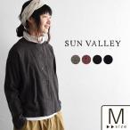 Wボタンシャツ SUN VALLEY サンバレー 起毛糸 ブラウス 綿 コットン 秋 冬 レディース 1820AW1102, トップス x03,