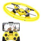ドローン カメラ付き WI-FI FPV機能 HDドローン マルチコプター LEDライト 体感モード 高度維持機能搭載 ・・・