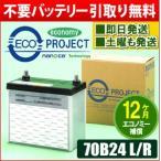 ■特価商品■B24L/B24R(70B24相当) エコプロジェクトバッテリー エコノミー(1年補償) 原材:新神戸電機(日立化成)/パナソニック