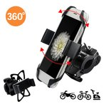 バイク スマホ ホルダー オートバイ スマートフォン GPSナビ 携帯 固定用 マウント スタンド 自転車用 ハンドル バー 角度調整 360度回転 脱着簡単