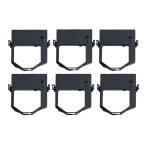 JFQC0005205 汎用インクリボンカセット 黒 6個 東芝テック TEC OA-11 / OA-100 / SJ-1シリーズ 事務コン