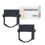 JFQC0005205 汎用インクリボンカセット 黒 2個 東芝テック TEC SJ-3300 SJ-3000 SJ-2JR 事務コン
