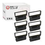シチズン 汎用 インクリボン カセット IR-61 OAR-CZ-40 黒 6個| CBM 710 715 720 725 730 750 DP-600P 600F 610F 610P 620M 630 654 657 iDP3530F iDP3530P