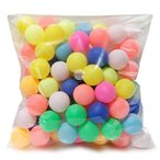 エデン 大容量 100個 レジャー用 ピンポン玉 卓球ボール カラフル MIX  (実技用には不向き) (E257)