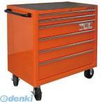 スナップオン・ツール  K1475KXL6PSP直送 代引不可・他メーカー同梱不可 6段引き出し ロールキャブ オレンジ ゴムマット仕様天板