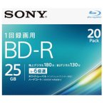 SONY 録画用25GB 1層 1-6倍速対応 BD-R追記型 ブルーレイディスク 20枚入り 20BNR1VJPS6 [20BNR1VJPS6]