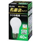 エルパ 40W形・E26口金 シリカ電球 ホワイト 長寿命タイプ 1個入り LW100V38W-W [LW100V38WW]