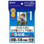 サンワサプライ インクジェット写真印画紙(特厚・はがきサイズ) JP-EP6HK [JPEP6HK]
