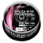 �ϥ��ǥ����� Ͽ����DVD-RW 4��7GB 1-2��®�б� CPRM�б� �������åȥץ���б� 20������ NSVDW12NP20 [NSVDW12NP20]