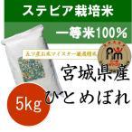 宮城県産 ひとめぼれ 5kg ステビア栽培 一等米 100% 初回限定 おまけ付き