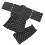 男性和服, 着物 -  甚平(じんべい)作務衣 メンズ夏用甚平 普段着にお祭りに一枚あると便利です。 しじら織り甚平(じんべい)