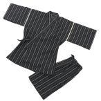 Male Kimono, Kimono -  甚平(じんべい)作務衣 メンズ夏用甚平 普段着にお祭りに一枚あると便利です。 しじら織り甚平(じんべい)