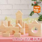 1歳 誕生日プレゼント 男 女 知育玩具 木のおもちゃ 木 積み木 クリエイティブブロックス ナチュラル 100ピース ImTOY アイムトイ