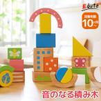 出産祝い 女 男 1歳 誕生日プレゼント 音が出る 鳴る おしゃれ 知育玩具 木のおもちゃ 積み木 SOUNDブロックス Large エデュテ