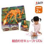 知育玩具 木のおもちゃ 2歳 3歳 誕生日プレゼント 男の子 女の子 積み木 絵合わせパズル サファリキューブズ VOILA ボイラ