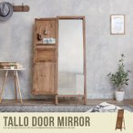 ドアミラー ドア付きミラー ミラー 鏡 全身 アンティーク 天然木 レトロ カフェ スタンドミラー カントリー ドレッサー ビンテージ