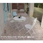 ガーデンチェア チェア 椅子 イス イングリッシュガーデン レトロ シック ヨーロピアン オシャレ アンティーク加工 シンプル 2脚セット ツタ模様 ロマンチック