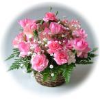 ピンク系のお花で鮮やかなイメージでアレンジしました♪