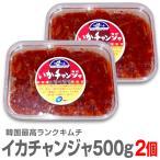 【2個セット】【冷凍】最高級ランク 生イカキムチ(500g)【合計1キロ】【送料無料】☆本格仕込みイカキムチ