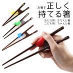 矯正箸(トレーニング) 若狭塗 きちんと箸・ちゃんと箸 (こども用・おとな用) 右利き・左利き 送料無料