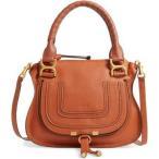 クロエ CHLOE レディース スーツケース・キャリーバッグ バッグ Marcie Small Double Carry Bag Tan