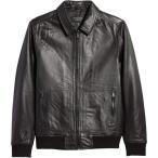 ノードストローム NORDSTROM MEN'S SHOP メンズ レザージャケット ミリタリージャケット アウター Nordstrom Leather Bomber Jacket Black