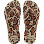 ハワイアナス Havaianas レディース ビーチサンダル シューズ・靴 Slim Animals Flip Flop Sand Grey/Rose Gold