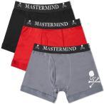 マスターマインド MASTERMIND WORLD メンズ ボクサーパンツ 3点セット インナー・下着 Boxers - 3 Pack Red/Grey/Black