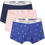 ラルフ ローレン Polo Ralph Lauren メンズ ボクサーパンツ 3点セット インナー・下着 Boxer Brief - 3 Pack Navy/Resort Pink