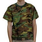 メンズ 迷彩 Tシャツ ミリタリー tシャツ 迷彩服 ウッドランド迷彩 ロスコ  ROTHCO  WOODLAND CAMO
