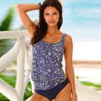 水着タンキニ 2019 セクシーな水着の女性プラスサイズのタンキニ泳ぐヴィンテージビーチウェア水着女性バンデージモノキニ水着 YH1817B1 XL