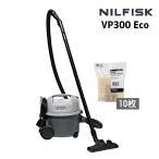 省エネ仕様900W・誰でも使いやすい ニルフィスク 業務用掃除機 VP300 eco【ペーパーバック10枚付】(9060905010+1408618000)