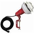 ハタヤ 防雨型作業灯 リフレクターランプ500W 100V電線5m バイス付 RC505