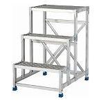 アルインコ 作業台(天板縞板タイプ)2段 CSBC266S