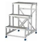 アルインコ 作業台(天板縞板タイプ)3段 CSBC396S
