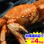 かに カニ 蟹 毛蟹 毛蟹 け蟹 ケガニ | 北海道浜茹で毛蟹姿 約4kg(10〜11杯)【送料無料】