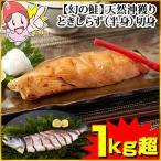 【幻の鮭】天然沖獲りときしらず(半身)切身 1kg超