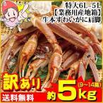 [かに カニ 蟹 ズワイ ずわい ズワイ蟹 ずわい蟹 ずわいがに]【業務用産地箱】特大6L〜5L生本ずわいがに肩脚 約5kg(9〜14肩)