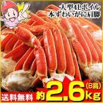 かに カニ 蟹 ズワイ蟹 ずわい蟹 ずわいがに ズワイガニ | 大型4Lボイル本ずわいがに肩脚 8肩(約2.6kg)【送料無料】