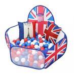 primaveraおりたたみボールプール英国旗デザインおしゃれベビーおもちゃ簡易ベビーサークル出産祝い1歳誕生日プレゼント男女兼用おもちゃ