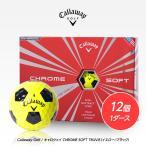 キャロウェイ クロムソフト トゥルービス ゴルフボール イエロー/ブラック 1ダース  Callaway Chrome Soft Truvis golf balls