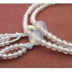 日蓮宗 女性用 白瑪瑙 共仕立 8寸 数珠 念珠 本式念珠